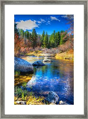 Framed Print featuring the photograph Pettengill Creek by Kevin Bone