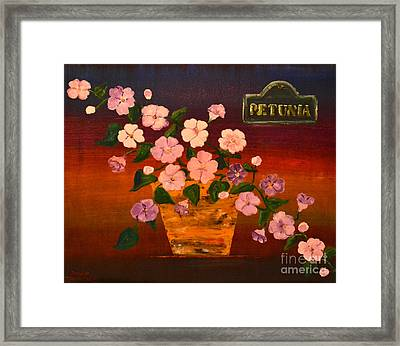 Framed Print featuring the painting Petunia by Denise Tomasura