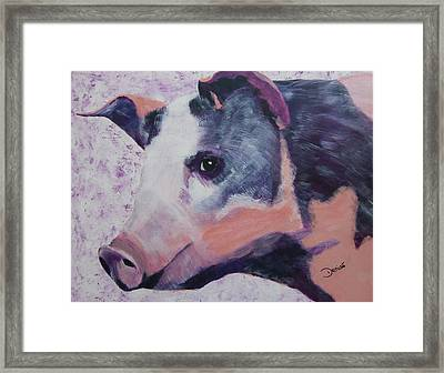 Petunia Pig Framed Print