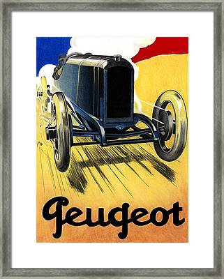 Peugeot Advert Framed Print by Lyle Brown