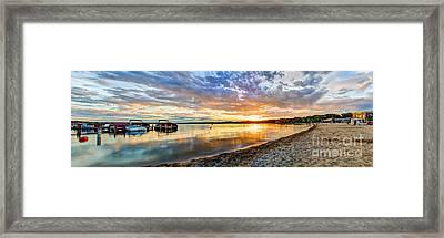 Pewaukee Vibrant Evening  Framed Print