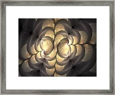Pewter And Gold Framed Print by Lea Wiggins