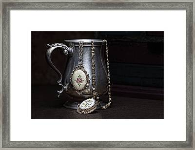 Pewter Cup Still Life Framed Print