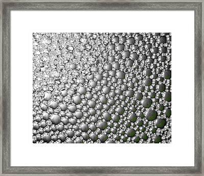 Pewter Rain Framed Print