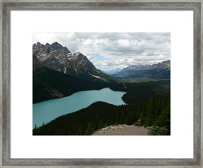 Peyote Lake In Banff Alberta Framed Print