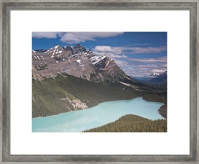 Peyto Lake And Caldron Peak Framed Print by Richard Berry
