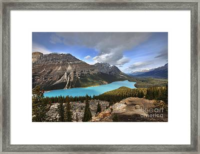 Peyto Lake Banff Framed Print