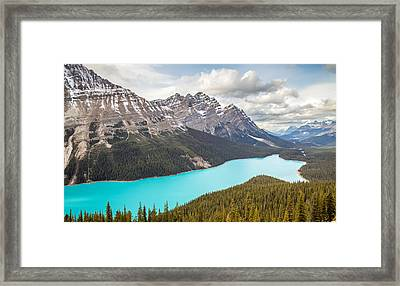 Peyto Lake Banff Framed Print by Pierre Leclerc Photography