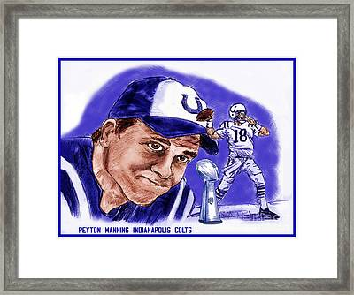 Peyton Manning Framed Print by Chris  DelVecchio