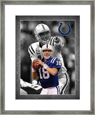 Peyton Manning Colts Framed Print