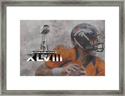 Peyton Manning Framed Print by Joe Hamilton