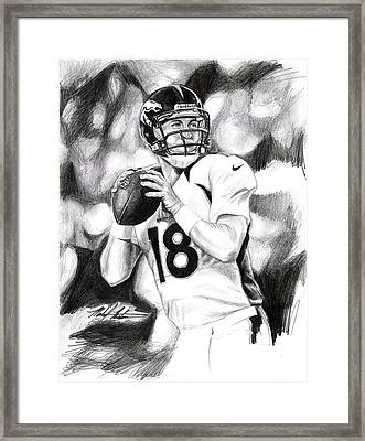 Peyton Manning Framed Print