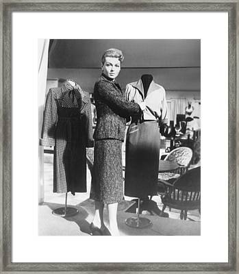 Peyton Place, Lana Turner, 1957, Tm & Framed Print by Everett