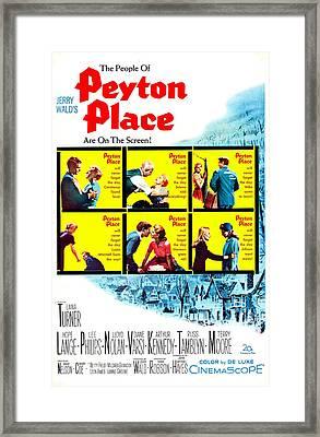 Peyton Place, Us Poster Art, 1957. Tm & Framed Print