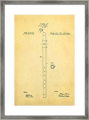 Pfaff Fife Patent Art 1864 Framed Print
