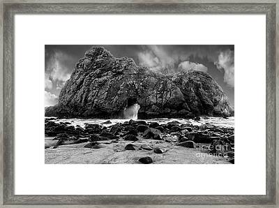 Pfeiffer Arch Monochrome Framed Print