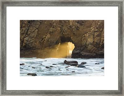 Framed Print featuring the photograph Pfeiffer At Sunset by Suzanne Luft