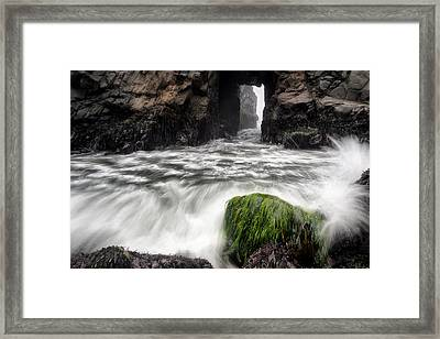 Pfeiffer Beach Keyhole Rock Framed Print by Chris Frost