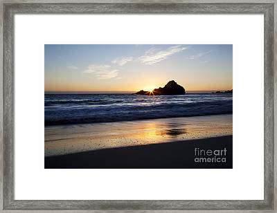 Pfeiffer Beach Sunset Framed Print by Jenna Szerlag