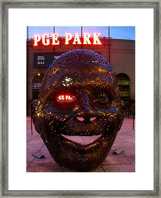 Pge Park Man Framed Print by DerekTXFactor Creative