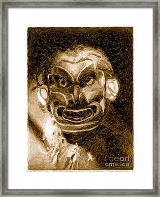 Pgwis Qaguhl In Sepia Framed Print by Edward S Curtis