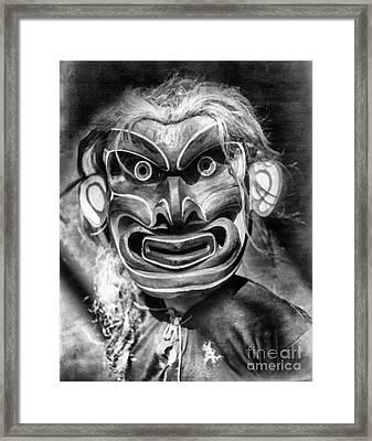 Pgwis Qagyuhl Indian Mask Framed Print