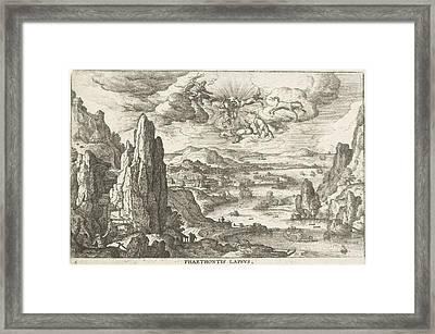 Phaethon Drives The Solar Wagon, Hans Bol Framed Print by Hans Bol And Anonymous