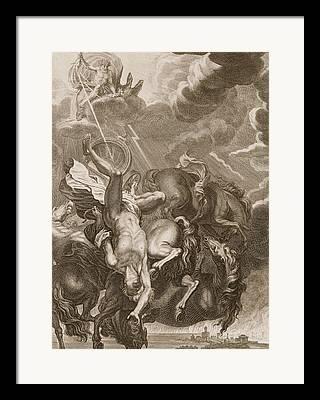 Lightning Strike Drawings Framed Prints