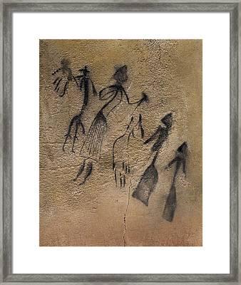 Phallic Dance In Naturalistic-stylized Framed Print by Everett