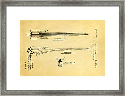 Phaneuf Hood Ornament Patent Art 1954 Framed Print by Ian Monk