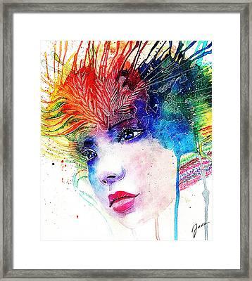Phantasie Framed Print by Elisabeth Vania