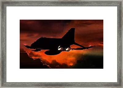 Phantom Burn Framed Print by Peter Chilelli