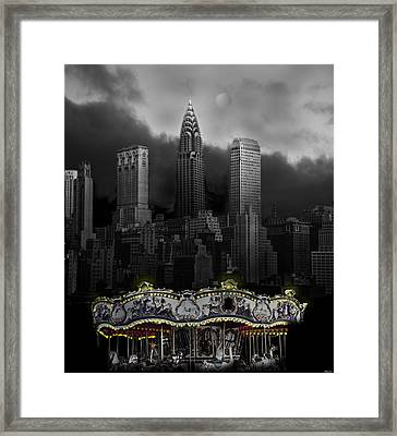 Phantom Carousel Framed Print