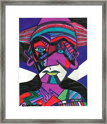Framed Print featuring the drawing Phantom by Don Koester