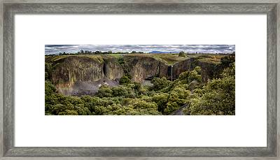 Phantom Falls Panorama Framed Print by Robert Woodward