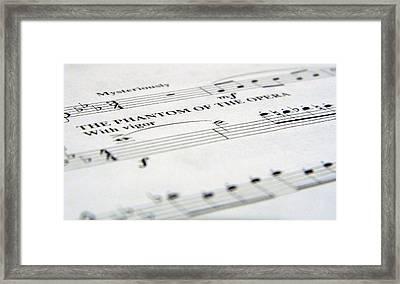 Phantom Of The Opera Framed Print