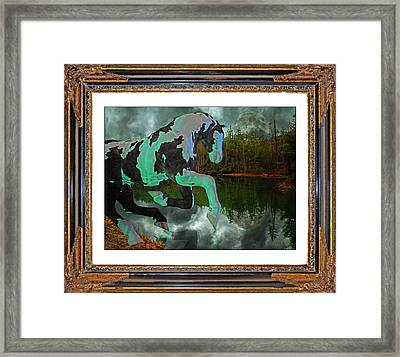 Phantom On The Lake Framed Print