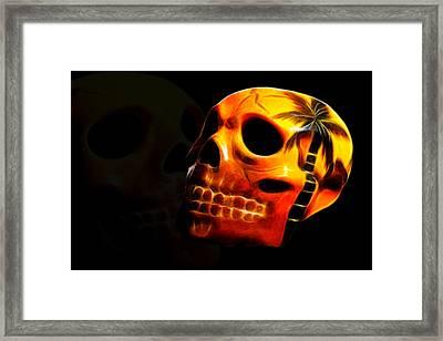 Phantom Skull Framed Print by Shane Bechler