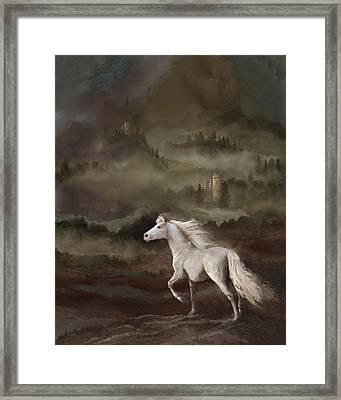 Storybook Stallion Framed Print by Melinda Hughes-Berland