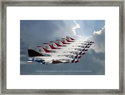 Phantom Team Thunderbirds Framed Print by Peter Chilelli