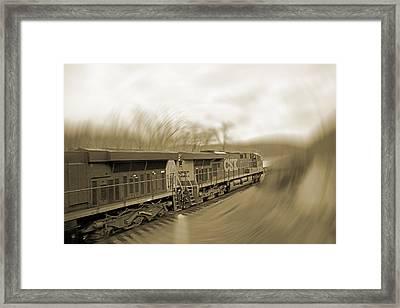 Phantom Train Framed Print by Betsy Knapp