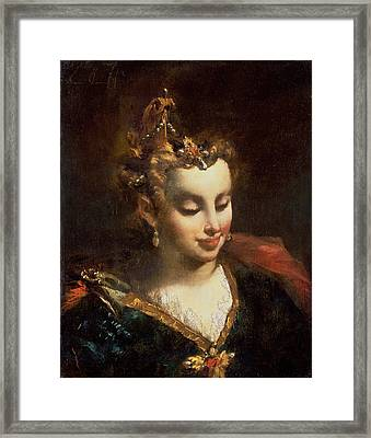 Pharaohs Daughter, After Palma Il Framed Print by Giovanni Antonio Guardi