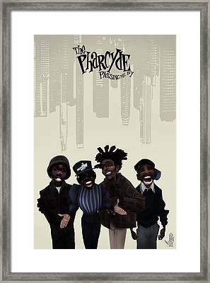Framed Print featuring the drawing Pharcyde -passing Me By 1 by Nelson dedos Garcia