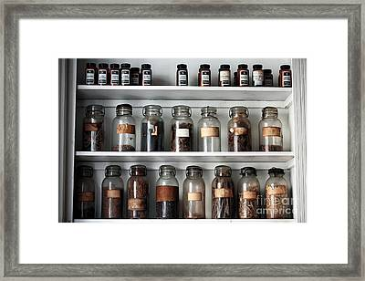 Pharmaceuticals Framed Print by John Rizzuto