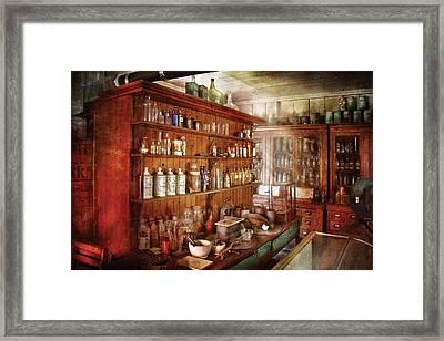 Pharmacist - Behind The Scenes  Framed Print by Mike Savad