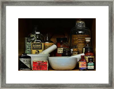 Pharmacist - Cod Liver Oil And More Framed Print by Paul Ward