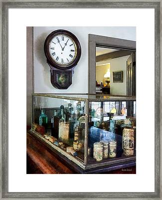 Pharmacist - Corner Drug Store Framed Print by Susan Savad
