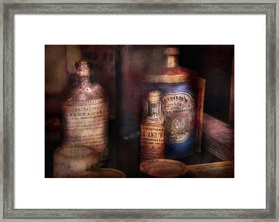 Pharmacist - Medicine For Diarrhea And Burns  Framed Print