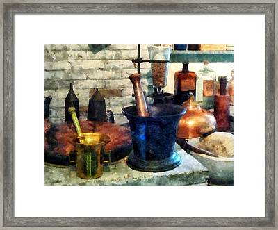 Pharmacist - Three Mortar And Pestles Framed Print