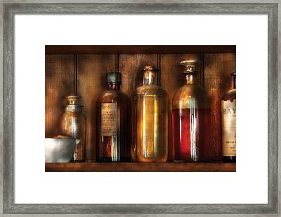 Pharmacist - Various Elixirs  Framed Print by Mike Savad